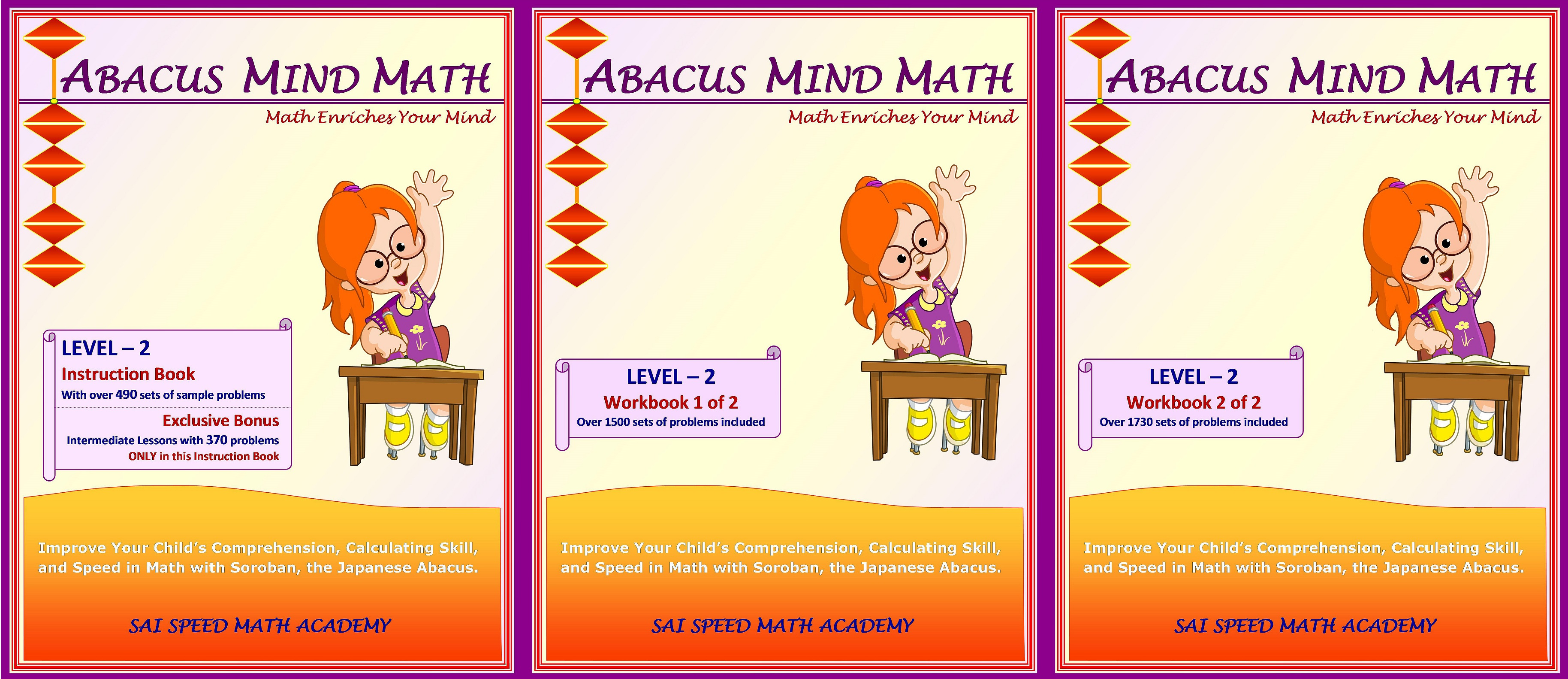 Uncategorized Abacus Maths Worksheets books complete set level 2 instruction book work 1 and no return item by sai speed math academy